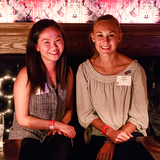 Annie Li (left) and Paige Parola (right) at Spirits With Sparky 2018
