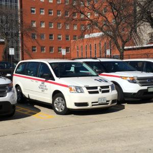ATU fleet of mobile unit vans