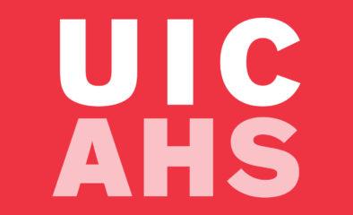 UIC AHS letter logo