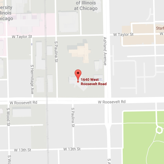 Map of Disability, Health and Social Policy Building location on UIC West Campus