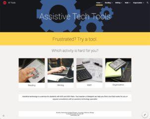 Screenshot of AT Tools webpage
