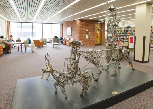 Statues in the University Library