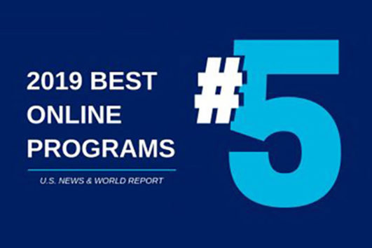 Ranked #5 best online programs in 2019