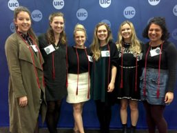 Six of seven winners of the Chancellor's Student Service and Leadership award