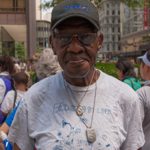 Elbert Lott, IDHD/LEND Advisory Committee Member, at the Disability Pride Parade