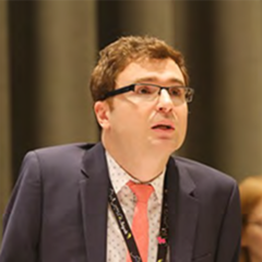 Vladimir Cuk speaking at a conferene