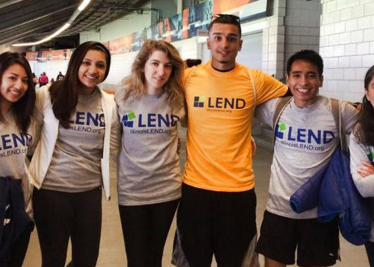 A group of LEND trainees at a volunteer event