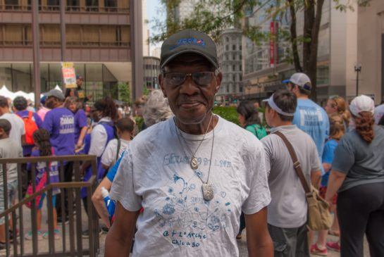 Elbert Lott, Consumer Advisory Committee Member, at the Disability Pride Parade
