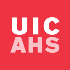 UIC AHS red logo block