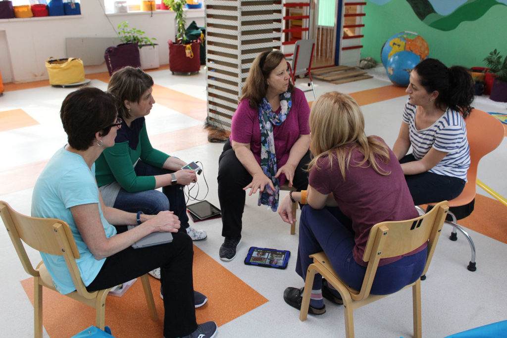 Politano provides clinical consultations on augmentative communication interventions.