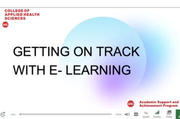 E-Learning workshop screenshot