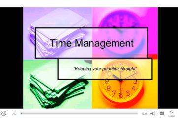 Time management workshop screenshot