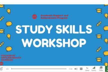 Study Skills workshop screenshot