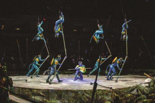 A group of acrobats perfoming (Photo: Matt Beard)