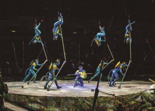 A group of acrobats perfoming (Photo By: Matt Beard)