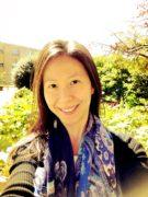 Enjoying a little sunshine between research steps in the department garden.