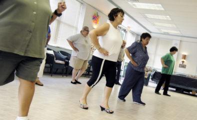 women dancing in a gym