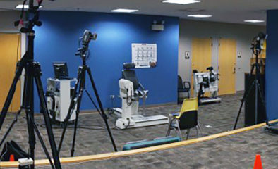 room with equipment