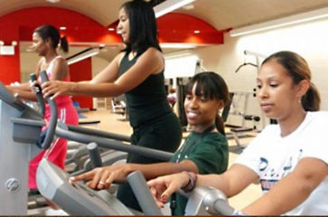Women exercising on treadmills at a CPD facility