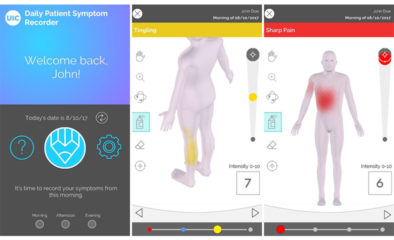 Daily Patient Sympto Recorder shows color on body to highlight pain