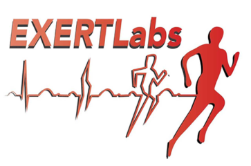EXERT Labs running logo with heart rate signal