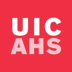 UIC AHS red block logo